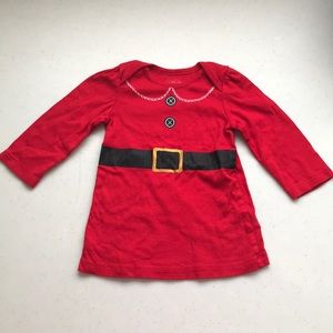 5/$25 (CHILDRENS) PLACE Mrs Claus L/S Top